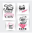 cat banner set vector image