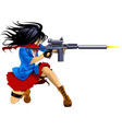 Woman sniper vector image