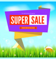 super sale summer background cut paper art style vector image