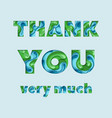 thank you greeting card vector image