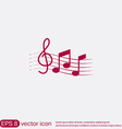 Musical notes and treble clef vector image
