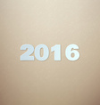 2016 on Cardboard background vector image vector image