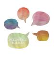 five watercolor bubbles vector image