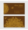 business card Brown background vector image