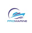 yacht logo vector image