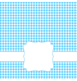 Blank blue card vector image