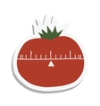 Cartoon tomato flat icon vector image