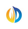 circle leaf business logo image vector image