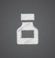 drugs sketch logo doodle icon vector image