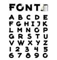 font brush vector image