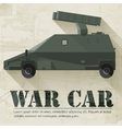 grunge military war car icon background concept vector image