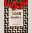 happy new year 2018 party promotional banner vector image