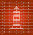 lighthouse sign whitish icon vector image