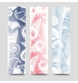 Ocean bookmarks collection with sea shells vector image