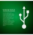USB symbol flat icon on green background Adobe vector image
