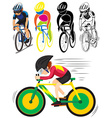 Sport icon for man doing cycling vector image