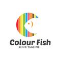 Colour Fish Logo vector image