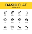 Basic set of phone icons vector image vector image