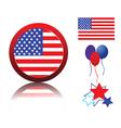 Patriotic elements vector image vector image