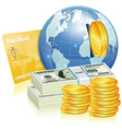Global Financial Concept vector image vector image