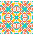 Abstract geometric pattern - colorful floor tile vector image vector image
