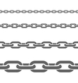 Metal Chains Horizontal Flat Patterns Set vector image