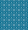 Anchors and yacht boat helm rudder with crossing vector image