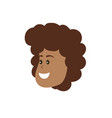 avatar woman face with hairstyle design vector image