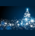 Christmas tree design at night vector image