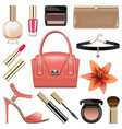 fashion accessories set 9 vector image