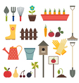 Garden and gardening tools icon set Isolated on a vector image