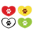paw print icons vector image