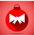 Christmas icon with the silhouette of a bow on vector image