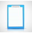 Paper in Clipboard vector image vector image