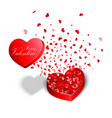 valentines day red heart shaped boxes vector image