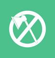 icon no cutting vector image vector image