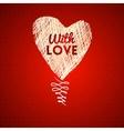 Love hearts sketch hand drawn card vector image