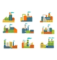 Factories and plants set vector image vector image