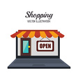 Ecommerce and shopping vector image