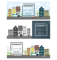 Architecture background Cityscape banner 1 vector image