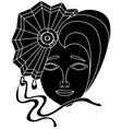 icon of carnival mask on a white background vector image