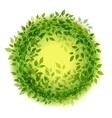 Beautiful green wreath vector image