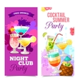 Cocktails Party Banners vector image