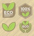 Eco friendly label set vector image
