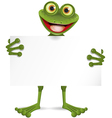 Frog with a white plate vector image