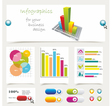 info graphics collection vector image