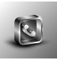 the 3d button vector image