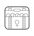 treasure chest game icon vector image
