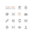 Virtual Reality - Thin Single Line Icons Set vector image