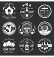 Wine Monochrome Emblems vector image
